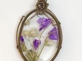 Oval Vintage Floral Pendant