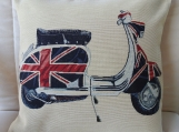 Scooter II Tapestry Cushion Cover - Free Shipping
