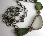 SoCal Sea Glass in Brass Necklace