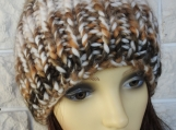 Women's Brown Random Hat With A Brown Pom Pom - Free Shipping