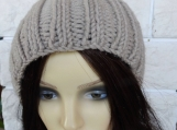 Women's Camel Hat With  Cream Pom Pom - Free Shipping
