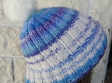 Women's Multicoloured Hat With A White Pom Pom - Free Shipping