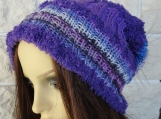 Women's Multicoloured Hat With White Pom Pom - Free Shipping