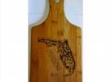 Bamboo Cutting Board Laser Etched With Your State Bamboo Gift