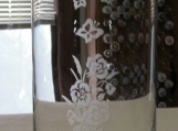 Butterfly/Floral  Etched Vase