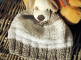 Child's Fawn And White Puppy Hat - Free Shipping