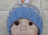 Child's Multicoloured Winter Snowman Hat - Free Shipping