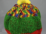 Child's Multicoloured Yellow Star Hat - Free Shipping