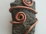 Copper Wire Wrapped Ohio Petrified Wood