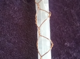Copper Wire Wrapped Selenite