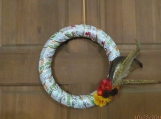 Fall Wreath with feathers