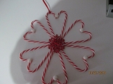 Faux Candy Cane Wreath