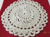 Handmade Ecru Crocheted Doily