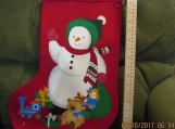 Handmade Snowman Holiday Stocking