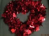 Heart Shaped Valentine Garland Wreath