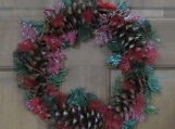 Holiday Pine Cone Wreath