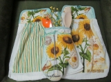 Kitchen Towel Set w/Sunflowers