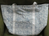 Large Blue Denim Shopping Bag