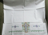 Pair of Hand Embroidered Pillow Cases