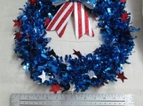 Patriotic Wire Wreath