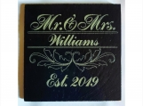 Personalized Coasters Mr & Mrs Slate Coaster Gift Set
