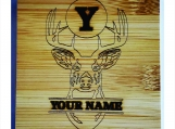 Personalized Coasters Set Deer Head W/Your Name & Initial Bamboo