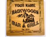 Personalized Coasters Set Your Name Backwoods Bar & Grill