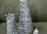Silver Cone Holiday Tree Set