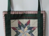 Star Quilt Lined Tote Bag
