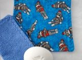 Blue monkey facecloth