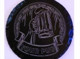 "Coasters Personalized ""Your Pub"" Set of 4 Laser Engraved Slate"