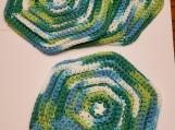 Crocheted Cotton Hexagon Dish cloths