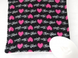Cute Girls and pink heart facecloth