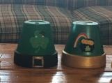 Green flower pots