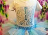 I Am One onesie and Blue Tutu set (Size 12-18 months)