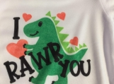 I Rawr you Dinosaur Children Onesie Size 3-6 months