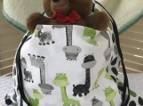 Kids Theme Drawstring Bag - Friendly Dinosaurs