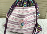 Kid�s Theme Drawstring Bag - Multi-Color Polka Dots