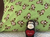 Kids Theme Pillowcase - Laughing Monkey (Green)