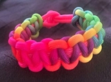 Kids Rainbow paracord bracelet