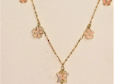 Little flowers and Butterfly Necklace