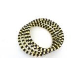Memory wire bracelet in black and gold Czech Beads