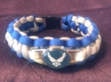 Paracord bracelet Air Force