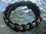 Paracord bracelet black/beige camo