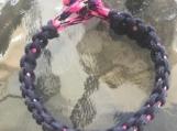 Paracord bracelet black overlay