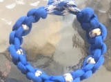 Paracord bracelet blue