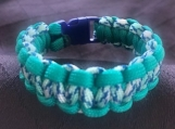 Paracord bracelet blue/mint green/white