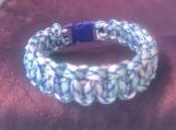 Paracord bracelet blue/turquoise camo