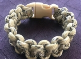 Paracord bracelet cream