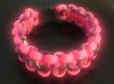 Paracord bracelet neon pink overlay camo